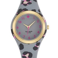 Women's kate spade new york 'rumsey' plastic strap watch, 30mm - Grey/ Multi Leopard