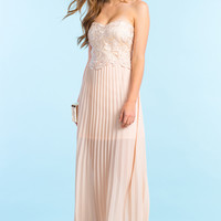 Make Me Blush Pleated Dress