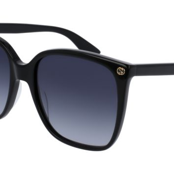 Gucci - GG0022S-001 Black Sunglasses / Grey Gradient Lenses