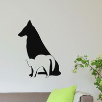 Wall Decal Vinyl Sticker Dog Cat Animal Pet Grooming Salon Decor Sb499