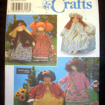 "Elaine Heigl 26"" Rag Doll & Clothes Craft Pattern Simplicity 8835 Sewing Pattern Uncut"