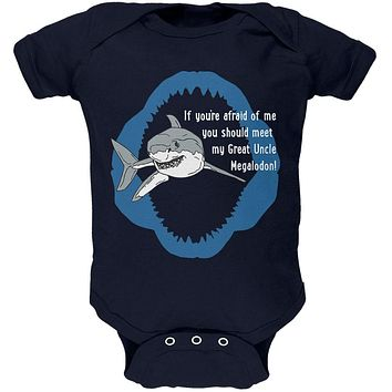 Shark Great White Great Uncle Megalodon Soft Baby One Piece