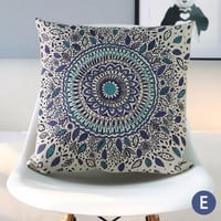Bohemian ethnic geometric throw pillow almofadas case modern decorative cotton linen cushion cover