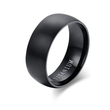 meaeguet fashion men titanium ring high quality black titanium w - Wedding Rings Black