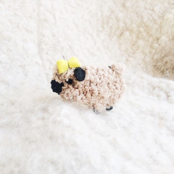 Kawaii Plush Sheep Brooch - Stuffed Brooch - Felt Brooch - Kawaii Brooches