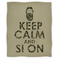 Keep Calm and Si On Blanket