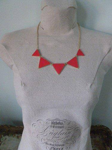 Pink and Gold Geometric Necklace