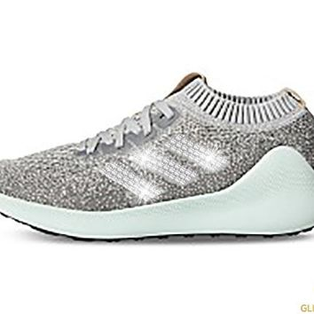 CLEARANCE - Adidas Purebounce + Crystals - Grey/Silver Metallic/Ash Green - Size 7.5