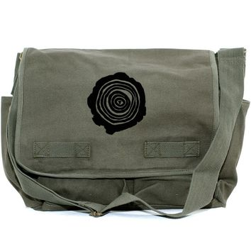 Messenger Bag Tree Rings (Men & Women) Crossbody Large Canvas Bag, Laptop Messenger Bag