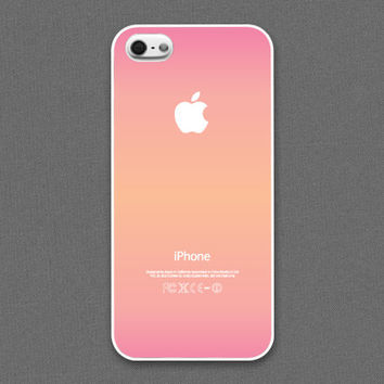 iPhone 5 / 5s Case - The aroma of love // Pink & Peach gradation, iPhone5 Case, Cases for iPhone5, iPhone5s Case, Cases for iPhone5s