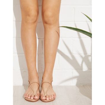 Toe Post Strappy Flat Sandals