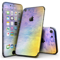 Washed 42083 Absorbed Watercolor Texture - 4-Piece Skin Kit for the iPhone 7 or 7 Plus