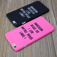 I don't speak ...mobile phone case for iphone 5 5s SE 6 6s 6 plus 6s plus + Nice gift box 71501