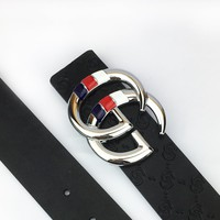GUCCI Tide brand double G head men and women retro smooth buckle belt #2