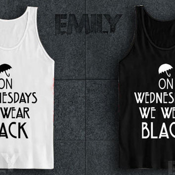 American Horror Story Coven On Wednesdays We Wear for tank top mens and tank top girls