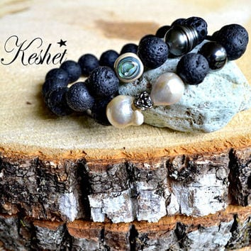 Anxiety and protection Bracelet Perfect Gift Angel Protection ,evil eye,Labradorite,Tahitian Pearl,Guardian Angel,Girlfriend,wife,gift,bday