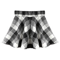 ROMWE | Romwe Check Pleated Cream Woolen Skirt, The Latest Street Fashion