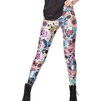 East Knitting  X-024 2017 New Fashion woman Cross Print pants Punk Leggings Plus Size S/M/L/XL