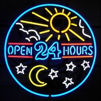 Neonetics Wall Lighting Open 24 Hours Neon Sign - 5OPENX - Lighting