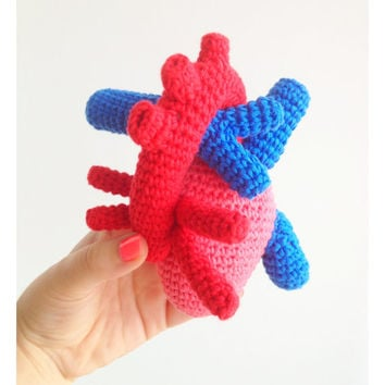 Heart Plush, Heart Soft Toy, Heart Stuffed Toy, Heart Plushie, Anatomically Correct Heart