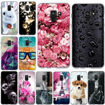 2018 Case for Samsung  Cover Silicone Coque for Samsung Galaxy A8 Phone Case