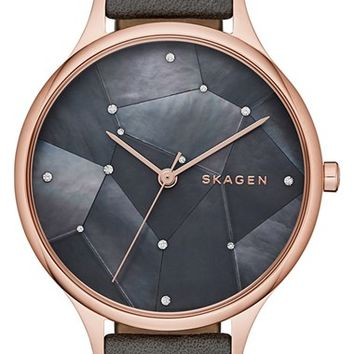 Skagen 'Anita - Starry Night' Round Watch, 34mm | Nordstrom