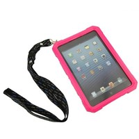 Ultra-thin iPad Mini Cover Case,Waterproof Shockproof Dirtproof Protective Cover Case for iPad Mini,Portable Neck Strap iPega (Pink)