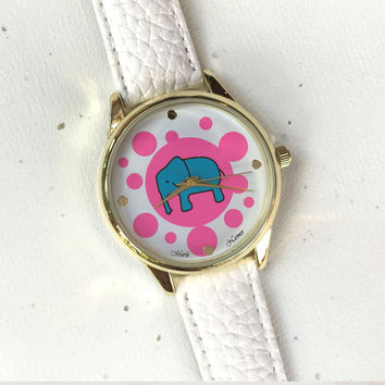 Elephant Print Watch