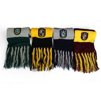 New Style Scarf Gryffindor/hufflepuff/ravenclaw/slytherin Scarves Wide Striped Warm Personality Cosplay Prop Free Shipping