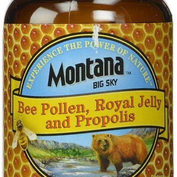 [Pack of 3 Bottles] Montana Big Sky, Bee Pollen Royal Jelly and Propolis Capsules, 90 Count Each