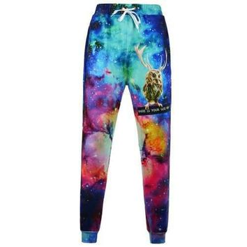 Animal Print Galaxy Jogger Pants - Xl