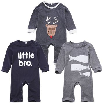 Baby Boys Romper Girls Jumpsuit Kids Clothing Winter Newborn Animal Cartoon Baby Body Suit Cartoon Long Sleeve Clothes