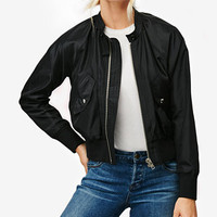 Free People Midnight Bomber Jacket | macys.com