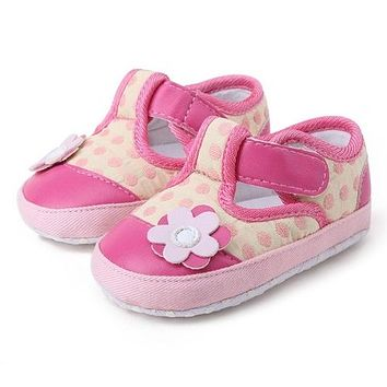 Infant Baby Girl Flower Shoes