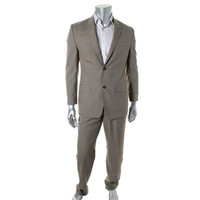 Sean John Mens Pattern Peak Collar Two-Button Suit