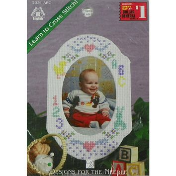 Baby Picture Frame ABC - Counted Cross Stitch Kit