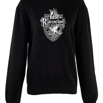 Ravenclaw House Harry Potter Hogwarts Alumni broom logo shirt unisex womens mens ladies  crew neck print sweatshirt