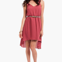 Birds of a Feather Belted Dress $44