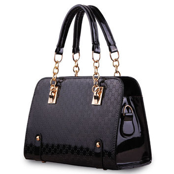 Tote Leather Messenger Handbag