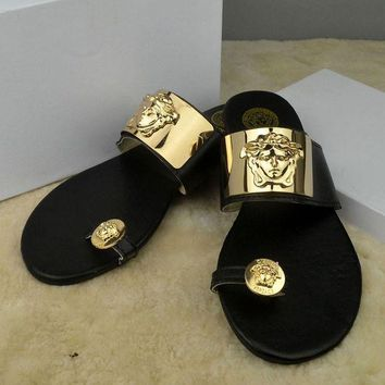 ONETOW Trendsetter Versace Women Casual Fashion Flat Sandal Slipper Shoes