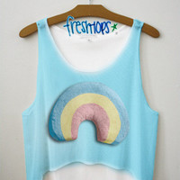 rainbow love crop top | fresh-tops.com