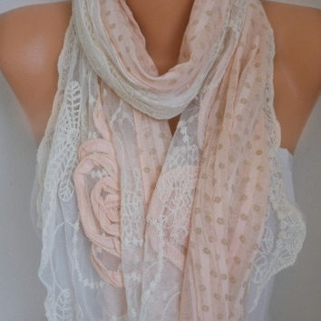 Floral Lace Scarf Graduation Gift Spring Summer Shawl Oversized Wrap Bridesmaid Gift Gift Ideas For Her Women Fashion Accessories Scarves