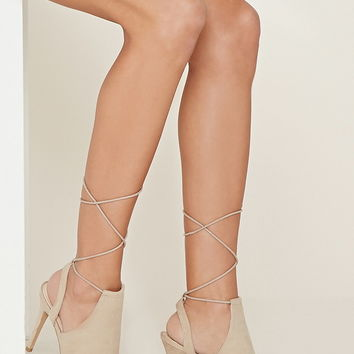 Lace-Up Cutout Booties