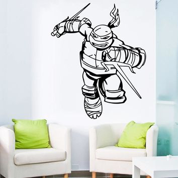 Ninja Turtles Wall Decal Boys Bedroom Superhero Wall Stickers Home Decor Kids Wall Decals Nursery Decor Windows Sticker WW-58