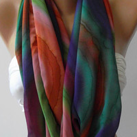 Dance of the Colors Collection- Infinity - Loop - Circle - Elegant - Feminine - Summer - Shawl - Scarf