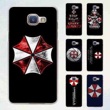 Umbrella Corporation Theme Resident Evil style transparent clear phone shell case for Samsung Galaxy A8 A9 A5 2017 A3 A510 A7 20
