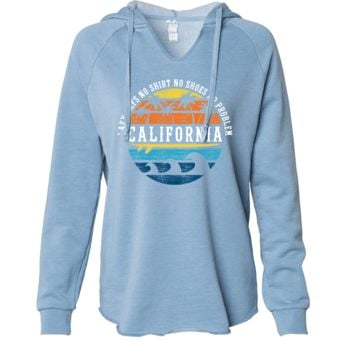 California Lazy Days Women's Soft Hooded Pullover