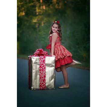 RTS Festive Red Shimmer Christmas Dress