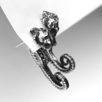 The Seahorse Dream, unique sterling earrings.