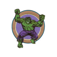 Incredible Hulk Attack Iron-On Patch